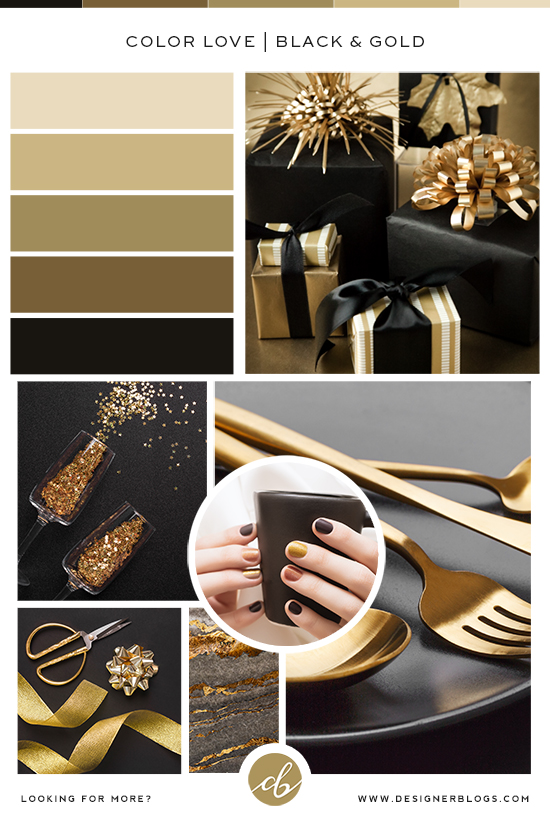 Gold & Black Color Palette