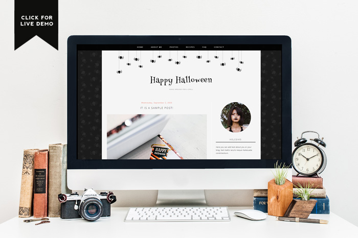 Click for the preview of free Halloween blogger template