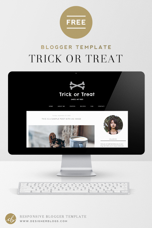 Free Spooky Blogger Template - Trick or Treat
