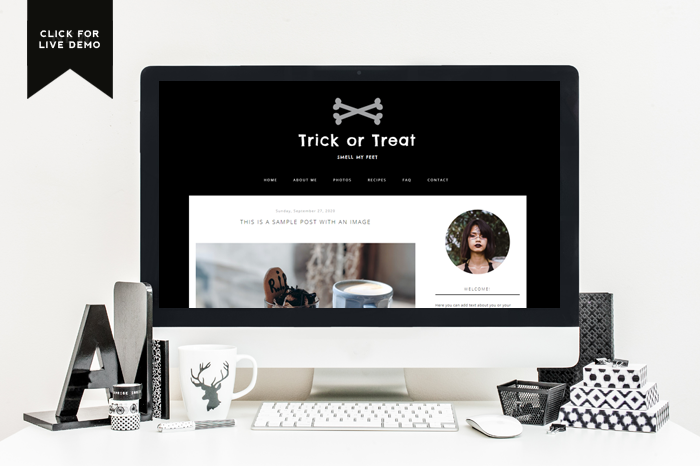 Preview of Free Spooky Blogger Template