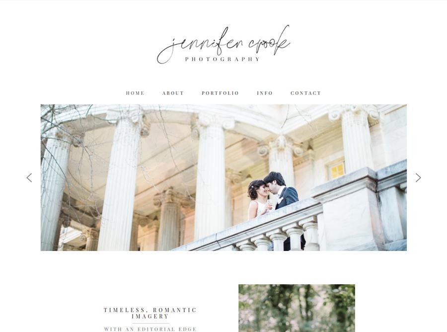 Jennifer Crook Photography - Custom Website Design