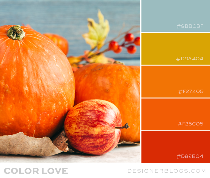 Pumpkin Orange Color Palette