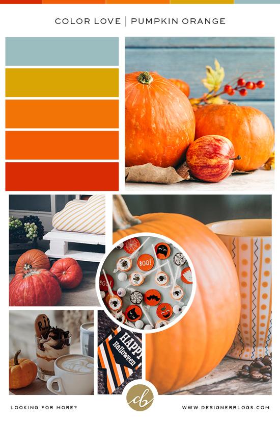 Perfect Halloween Color Palette - Pumpkin Orange