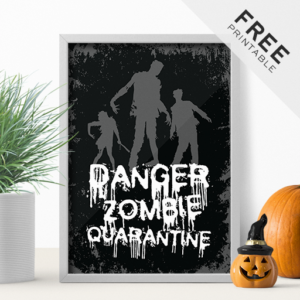 Spooky Freebie Full Of Zombies - Free Halloween Printable Poster