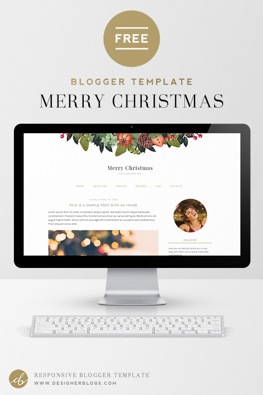 Merry Christmas - Free Holiday Blogger Template
