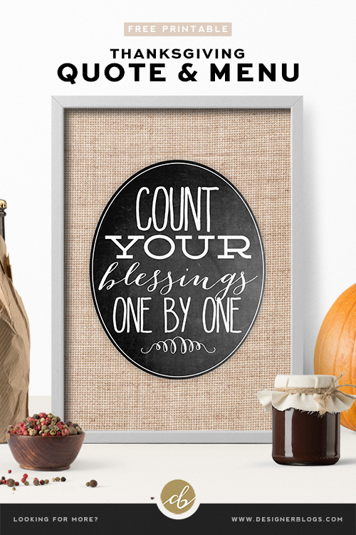 Free printable thanksgiving table decoration - Oval Poster with Quote and/or Menu
