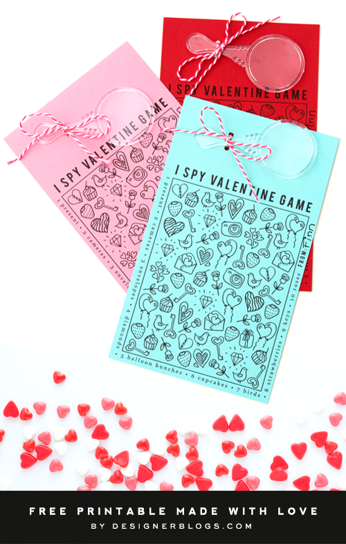 Free Printable Valentine Game For Kids - I Spy Valentine