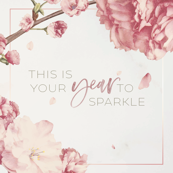 This is your year to sparkle - Quote from Free January 2021 Wallpaper