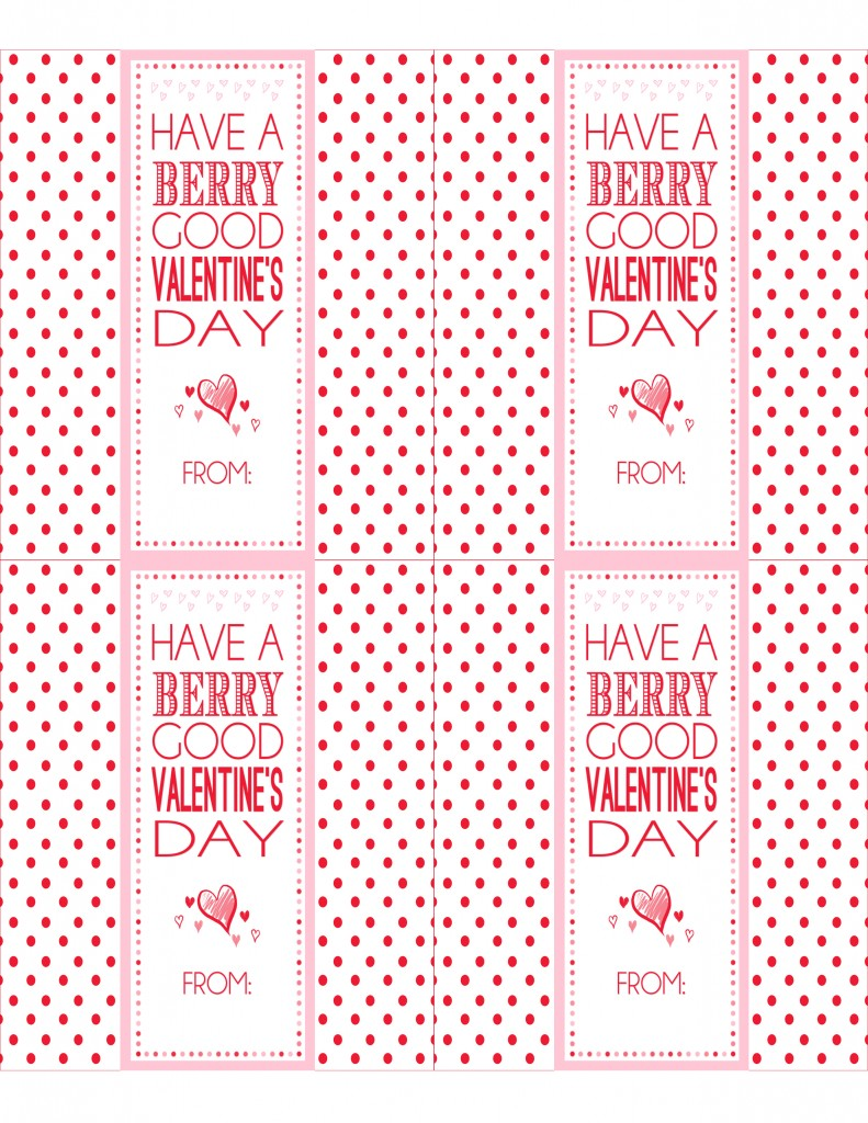 Valentine's Fruit Strip Wrap - Free Printable Preview