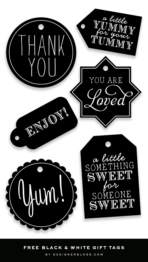 Black & White Free Tags Printable For Every Occasion!