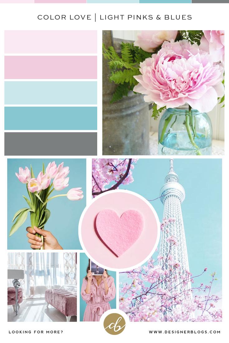 Light Pinks & Blues Color Palette