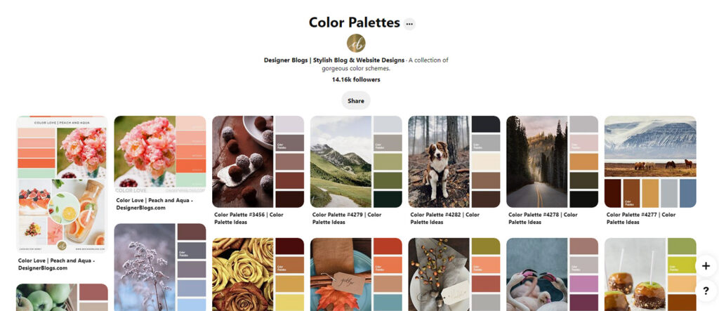 Color Palettes Pinterest Board