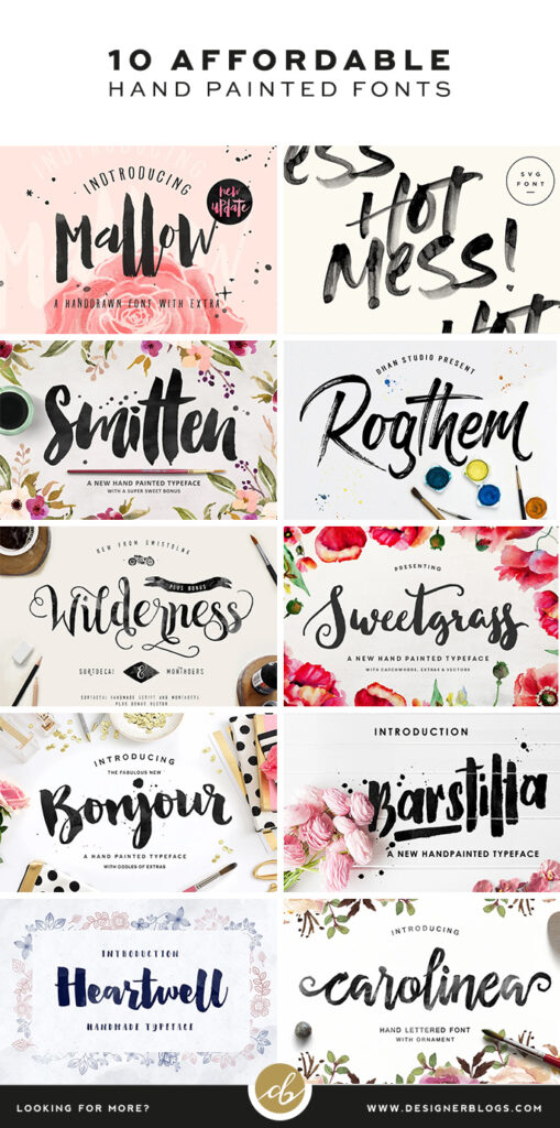Affordable Hand Painted Fonts