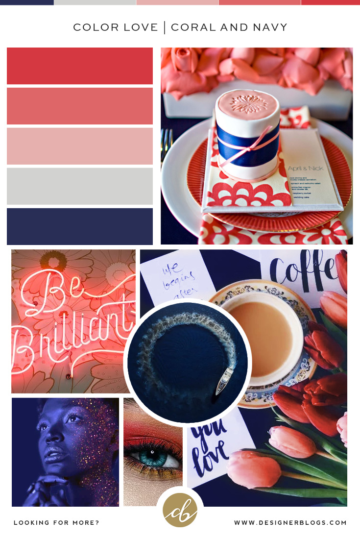 Perfect Stylish Color Palette - Coral and Navy