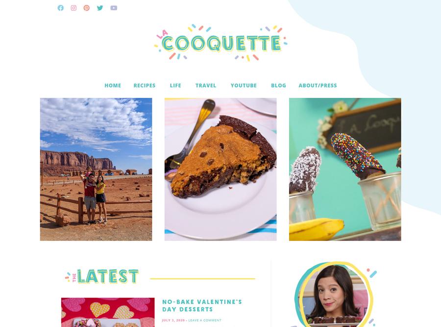 La Cooquette - Custom Blog design