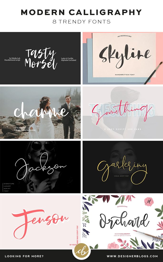 8 Trendy Modern Calligraphy Fonts You Must Know