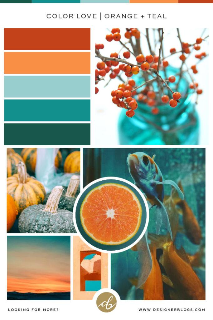 Orange and Teal Color Palette - Green, Orange, Teal, Red