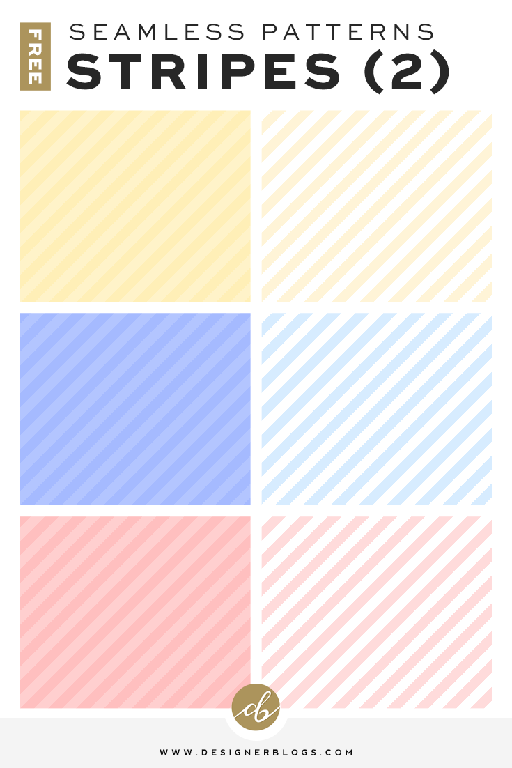 Free Seamless Striped Pattern Backgrounds available in 6 colors!