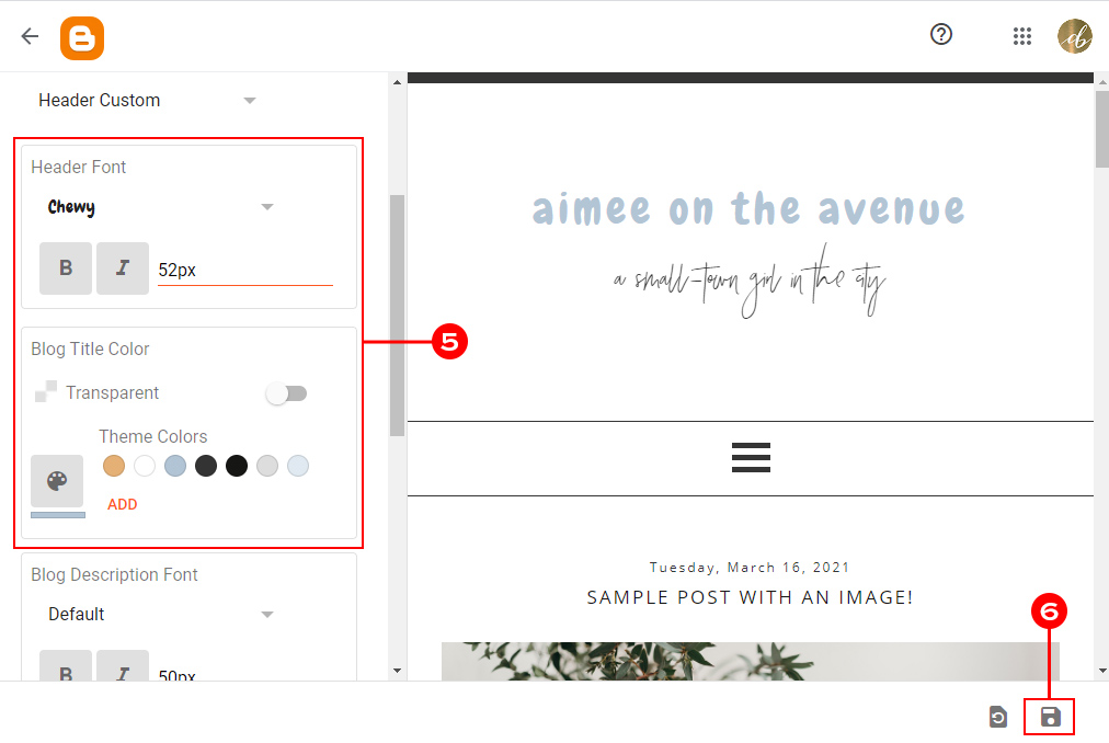 Accessing Custom Fonts with Blogger
