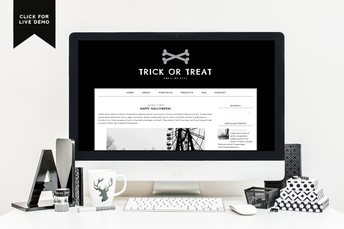 $5 Blogger Template | Trick or Treat