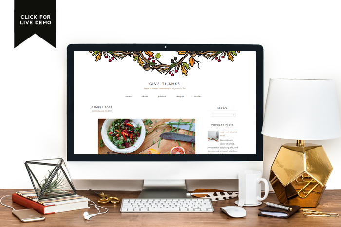 $5 Blogger Template | Give Thanks