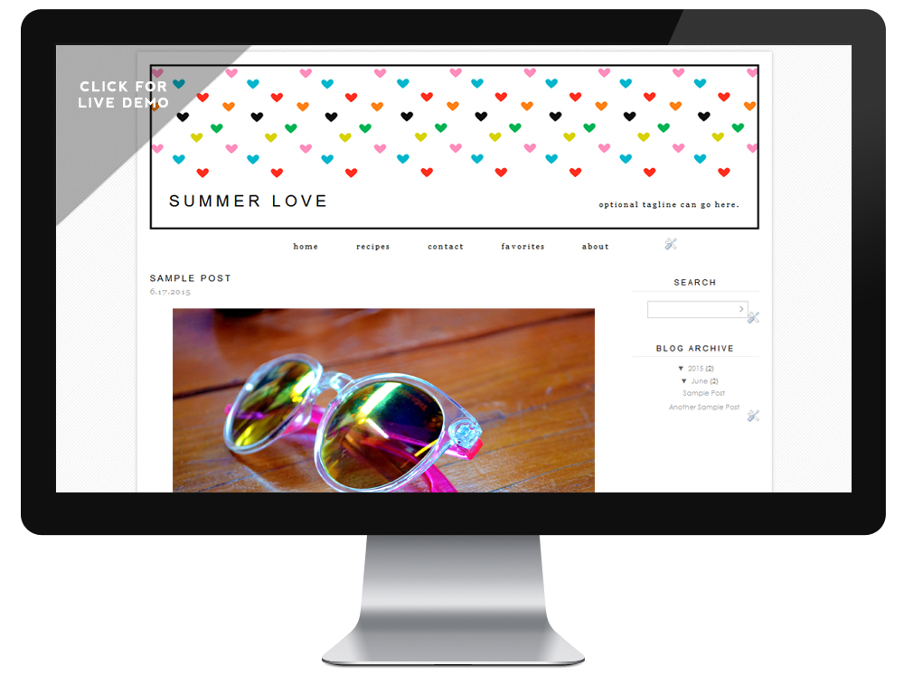 $5 Blogger Template   Summer Love