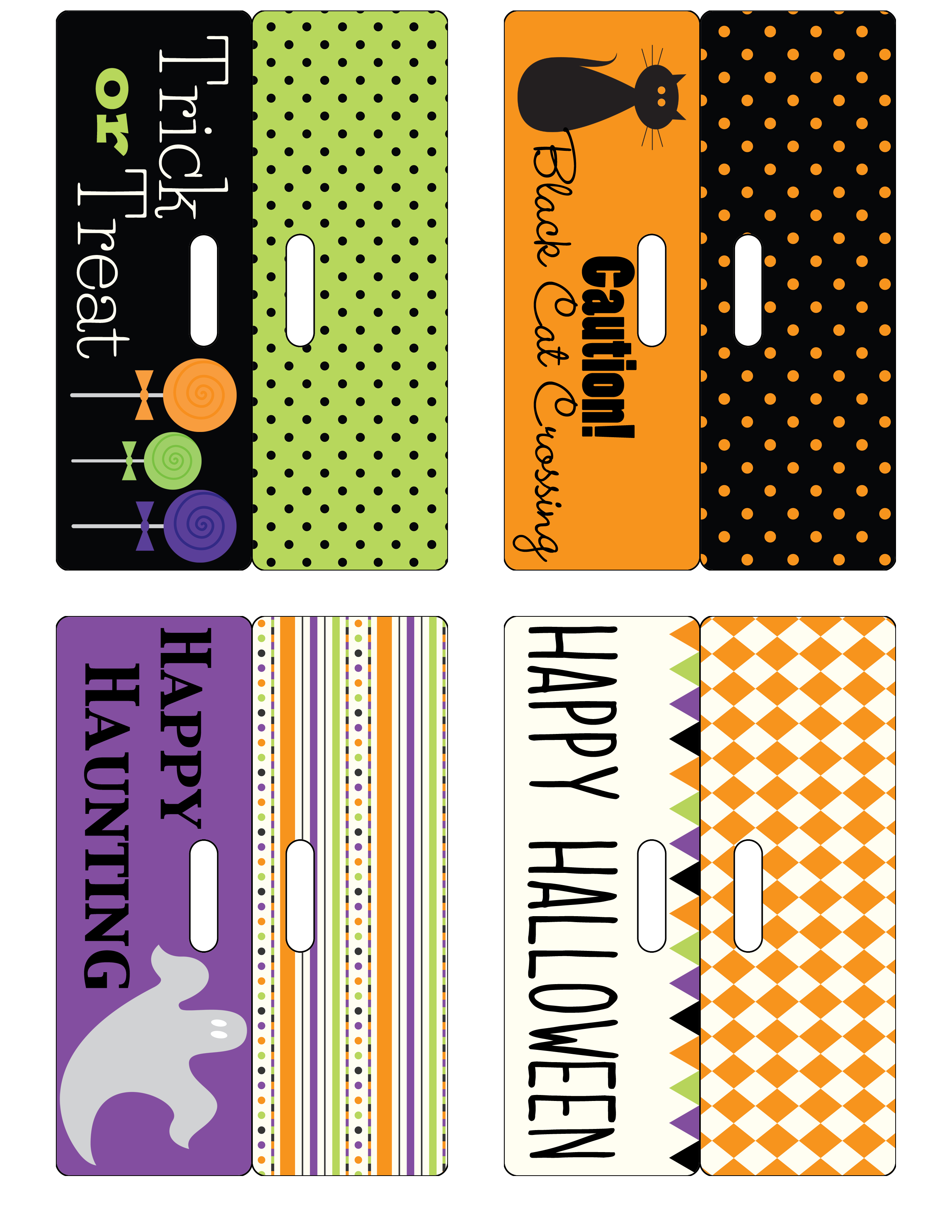image about Free Printable Bag Toppers Templates referred to as Halloween-Bag-Toppers - Designer Weblogs
