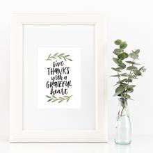 Give Thanks Free Printable