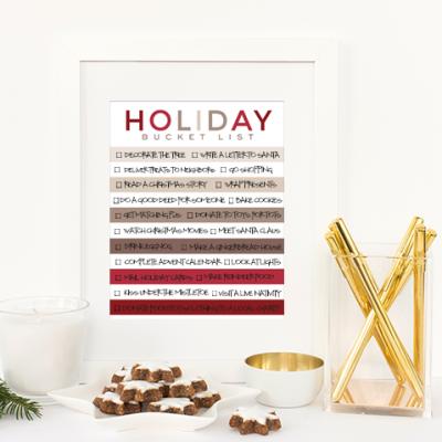 Holiday Bucket List printable