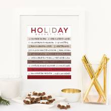 Holiday Bucket List Free Printable