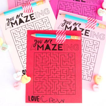 Valentine's Day Maze Free Printable