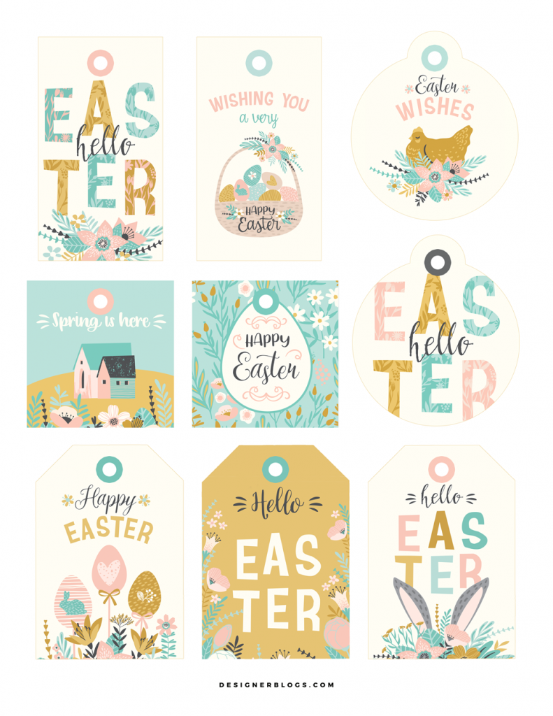 graphic regarding Free Printable Easter Gift Tags identify Easter Reward Tags Cost-free Printable - Designer Weblogs