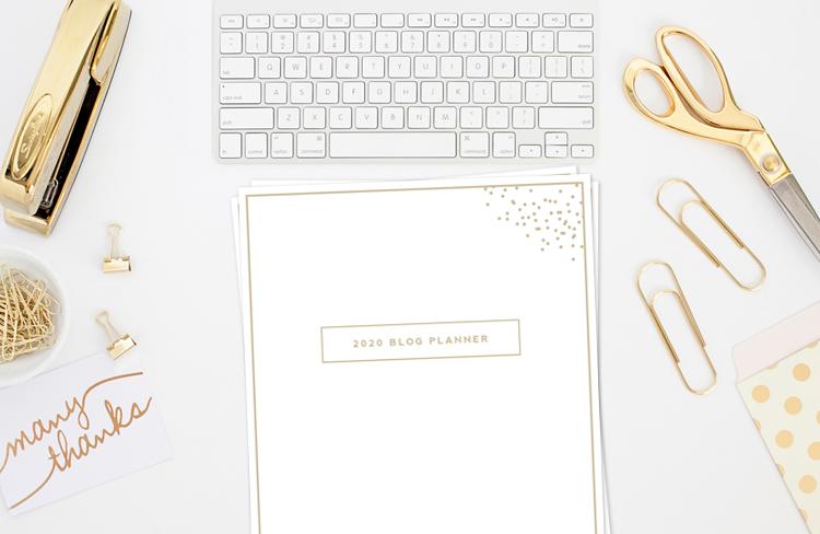2020 Blog Planner Mockup