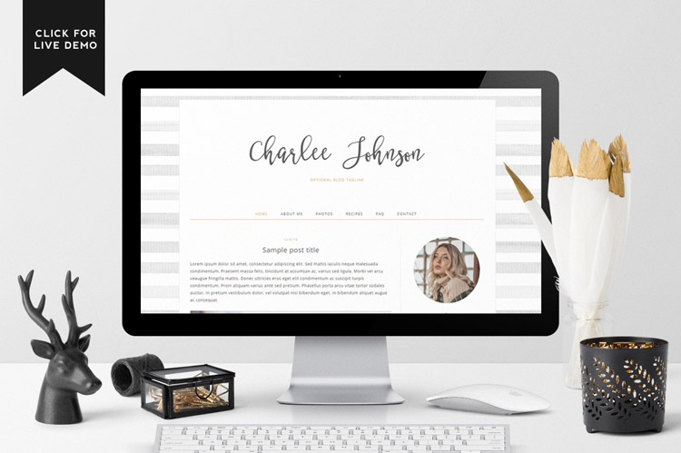 Charlee Blogger Template for Fashion Blogs