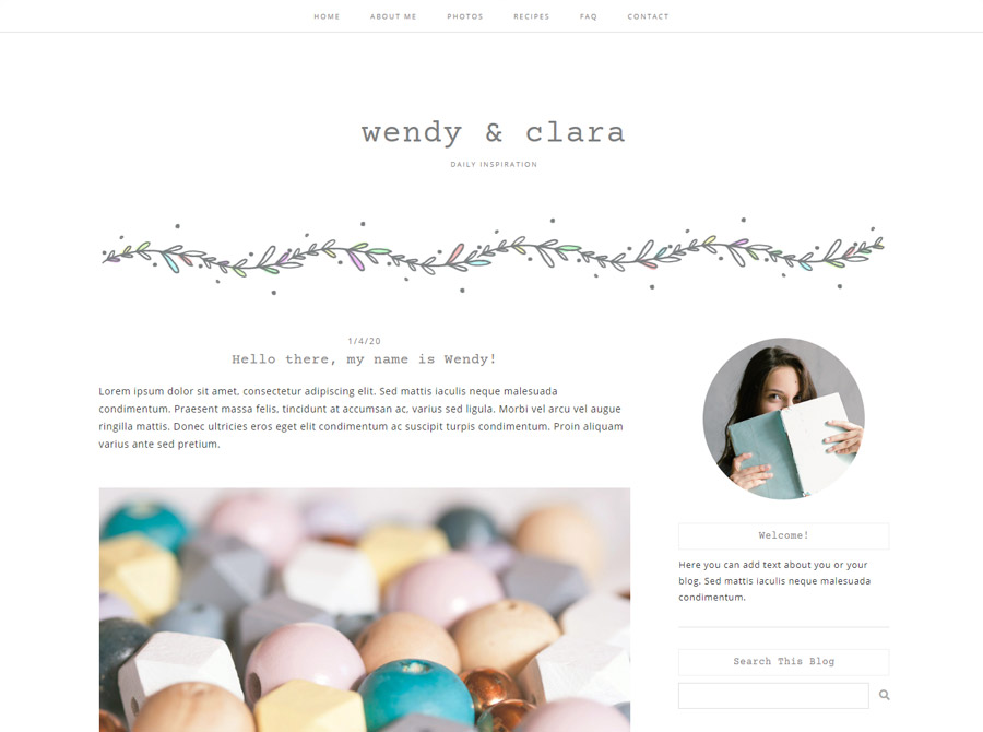 Wendy Blogger Template