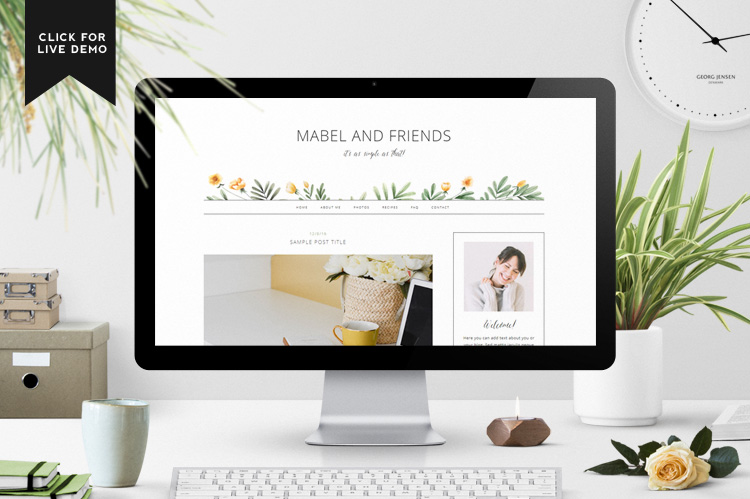 Mabel Blogger Template