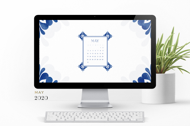 Preview of the May Wallpaper on the computer screen