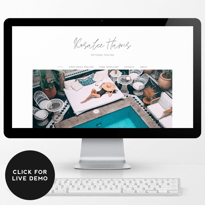 Rosalee Premade WordPress Theme